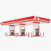 Stacja benzynowa 02 3d model