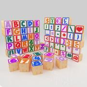 Alphabet Wooden Blocks 3d model