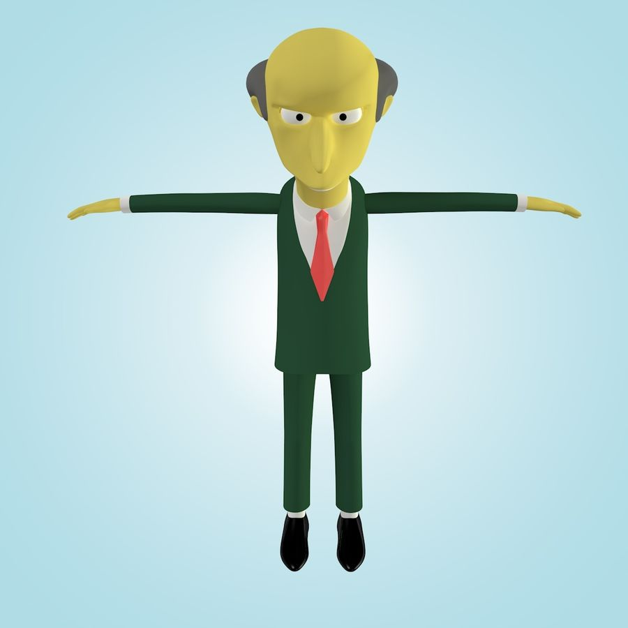 Mr. Burns royalty-free 3d model - Preview no. 4