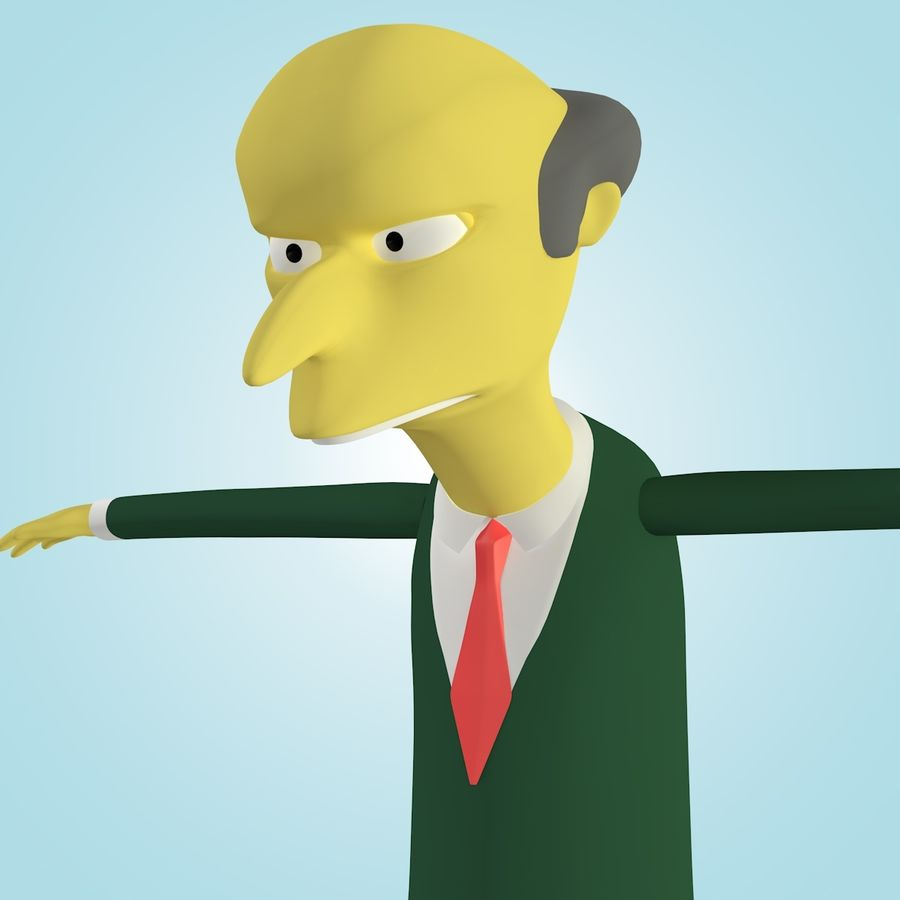 Mr. Burns royalty-free 3d model - Preview no. 5