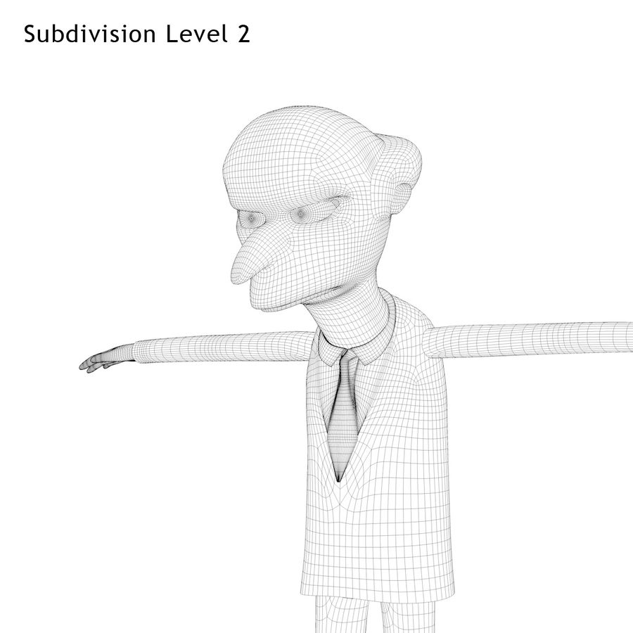Mr. Burns royalty-free 3d model - Preview no. 13