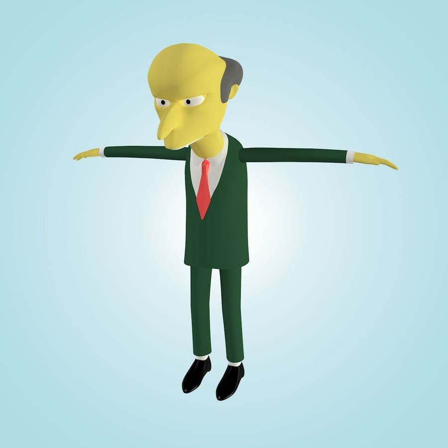 Mr. Burns royalty-free 3d model - Preview no. 2