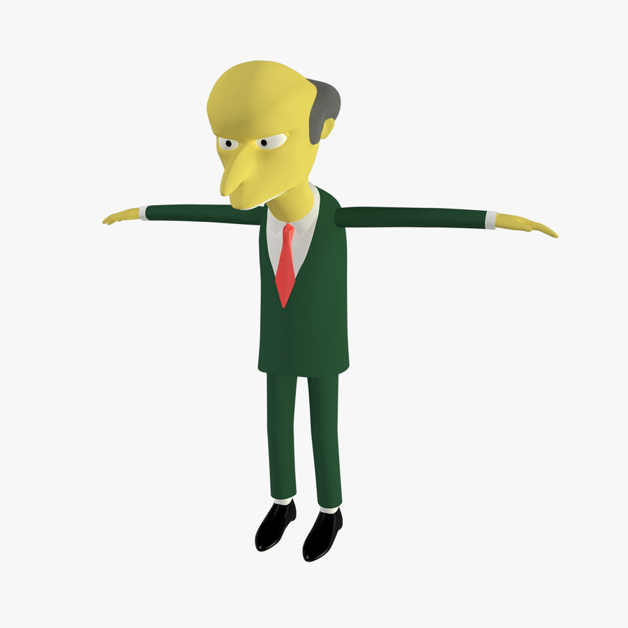 Mr. Burns royalty-free 3d model - Preview no. 1