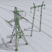 Power Line Set 3d model