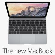 新款MacBook 12英寸2015-2016年 3d model