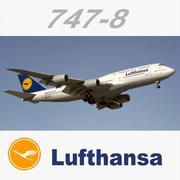 Boeing 747 8 Lufthansa 3d model