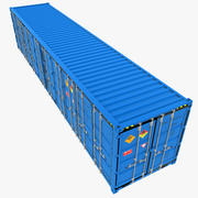 40ft Open Side Container 3d model
