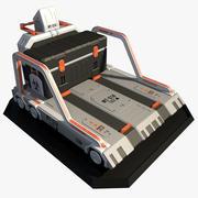Camión de plataforma Scifi modelo 3d