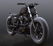 Harley Davidson Sportser Iron 883 custom 3d model