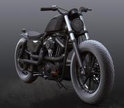 Harley Davidson Sportser Iron 883 custom 3d model
