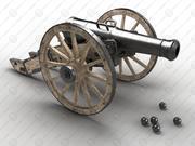 12-pound field cannon 3d model