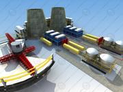 Industriell arkitektur 3d model