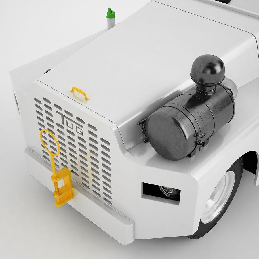 航空機牽引トラクター04 royalty-free 3d model - Preview no. 19