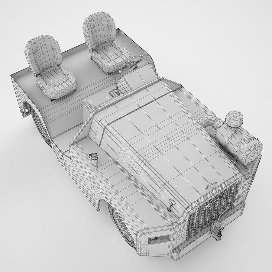 航空機牽引トラクター04 royalty-free 3d model - Preview no. 16