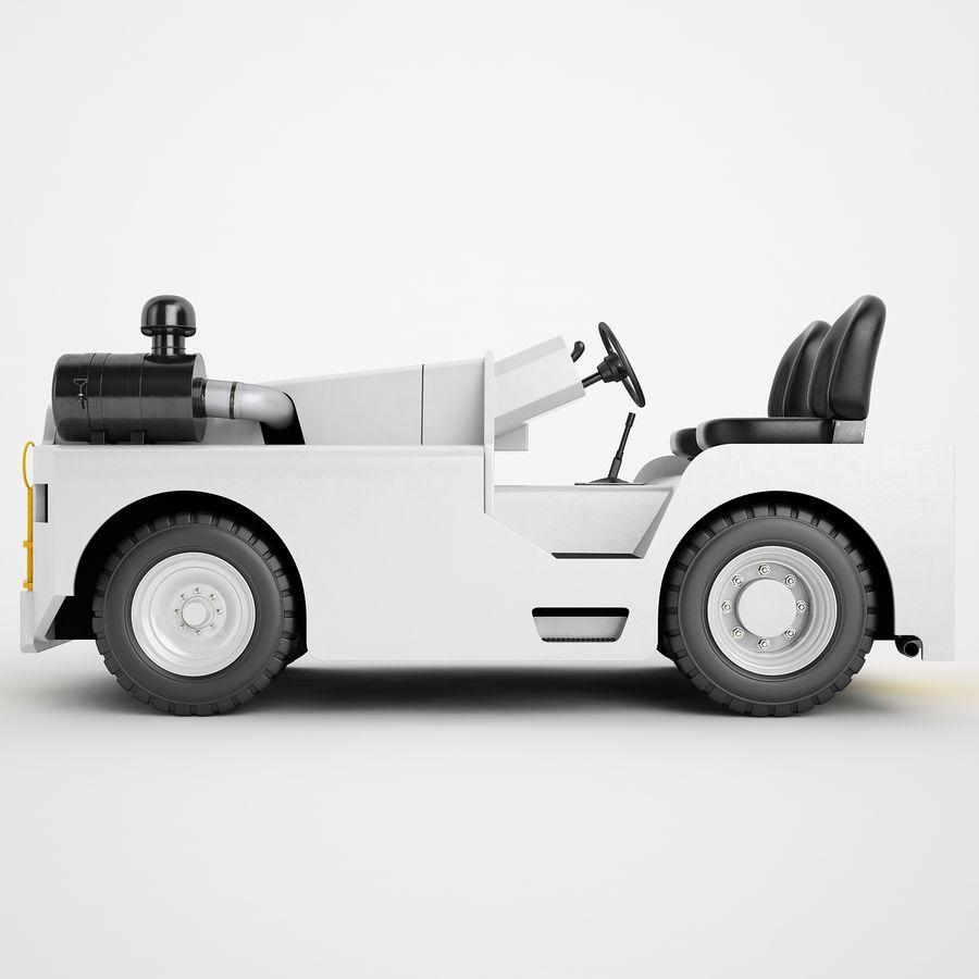 航空機牽引トラクター04 royalty-free 3d model - Preview no. 7