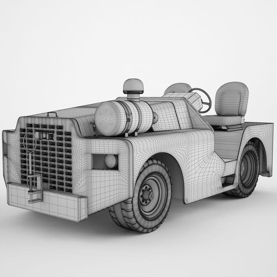航空機牽引トラクター04 royalty-free 3d model - Preview no. 3