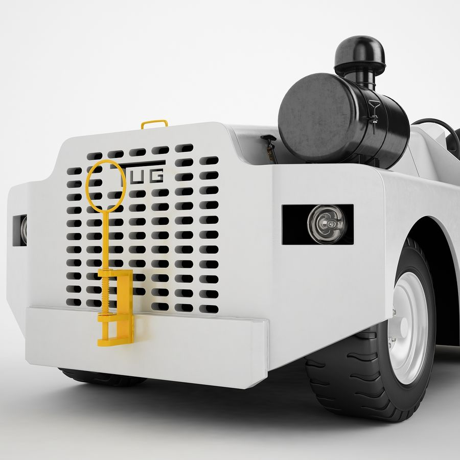 航空機牽引トラクター04 royalty-free 3d model - Preview no. 17