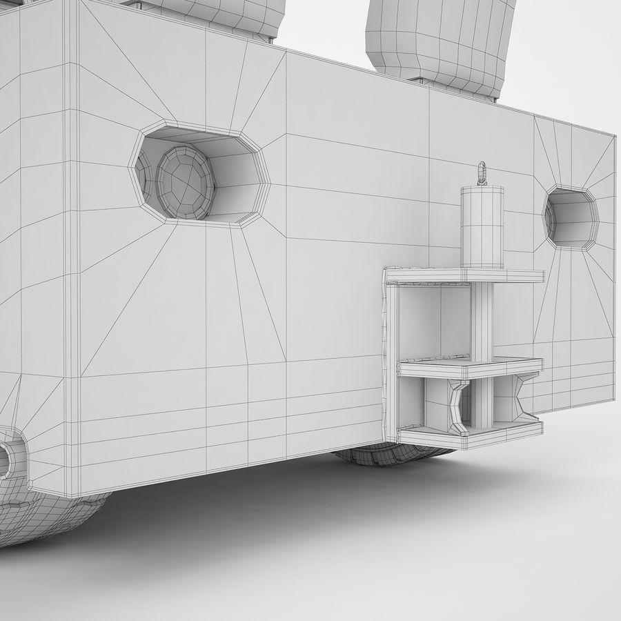 航空機牽引トラクター04 royalty-free 3d model - Preview no. 30