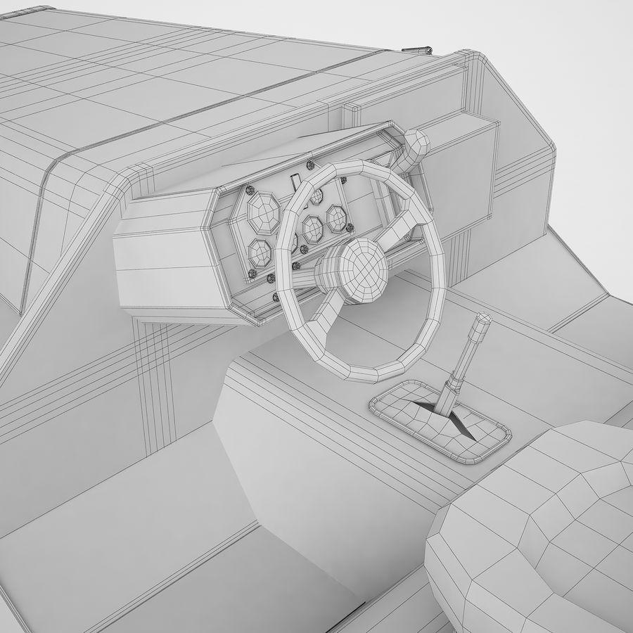 航空機牽引トラクター04 royalty-free 3d model - Preview no. 24