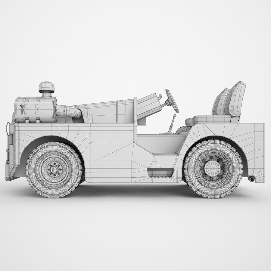 航空機牽引トラクター04 royalty-free 3d model - Preview no. 8