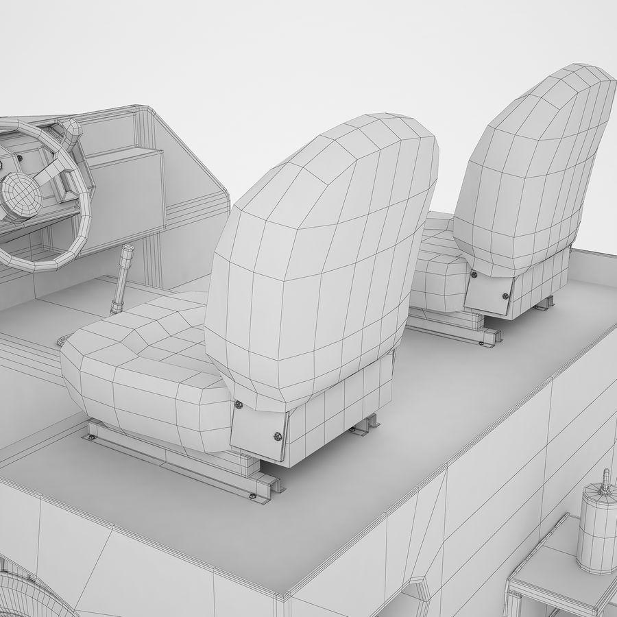 航空機牽引トラクター04 royalty-free 3d model - Preview no. 28