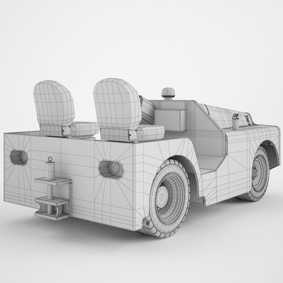 航空機牽引トラクター04 royalty-free 3d model - Preview no. 6