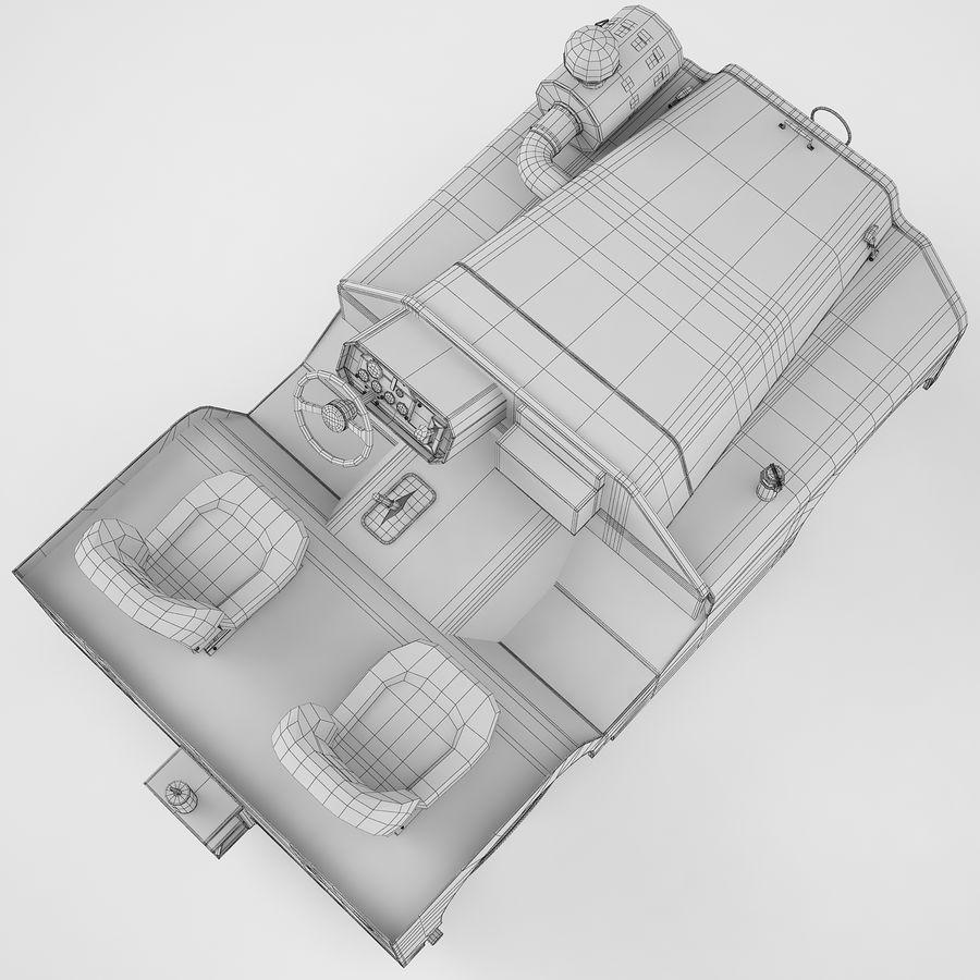 航空機牽引トラクター04 royalty-free 3d model - Preview no. 14