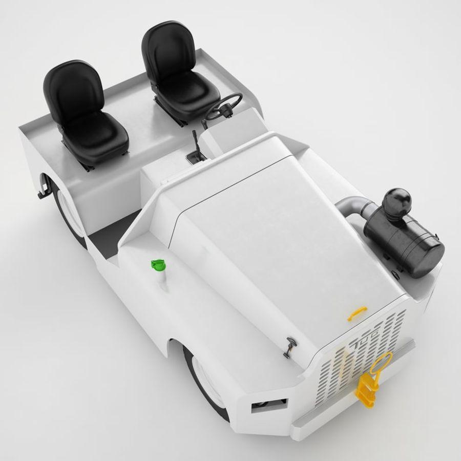 航空機牽引トラクター04 royalty-free 3d model - Preview no. 15