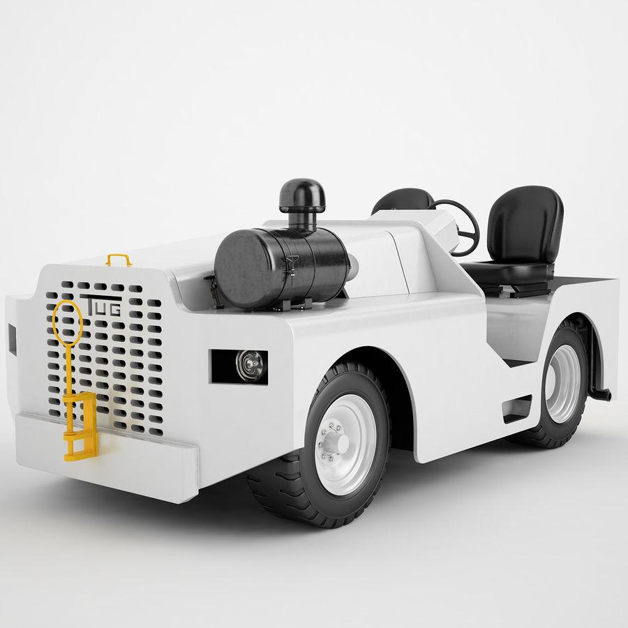 航空機牽引トラクター04 royalty-free 3d model - Preview no. 2