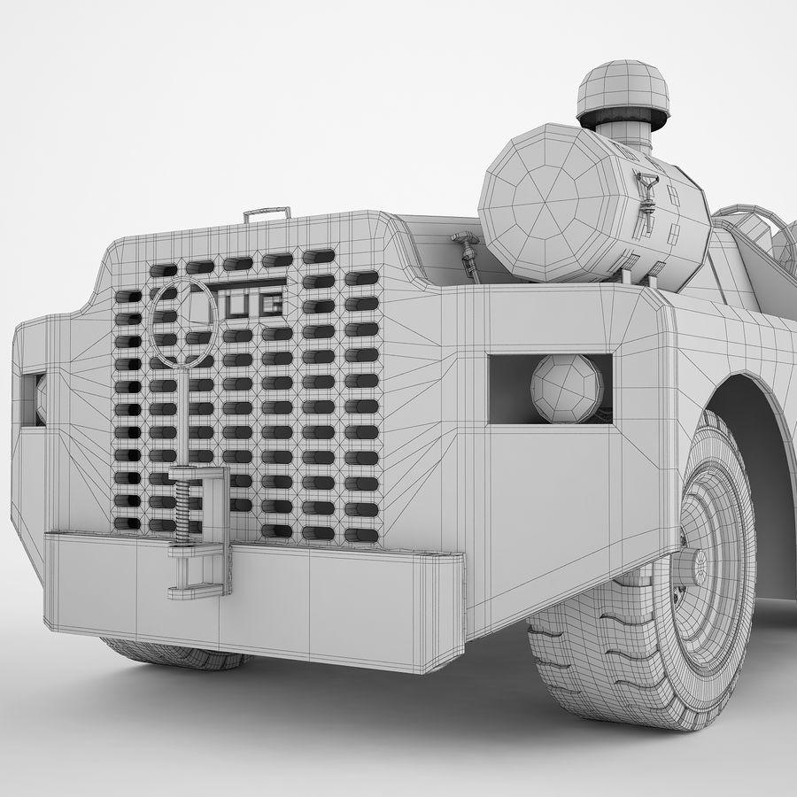 航空機牽引トラクター04 royalty-free 3d model - Preview no. 18