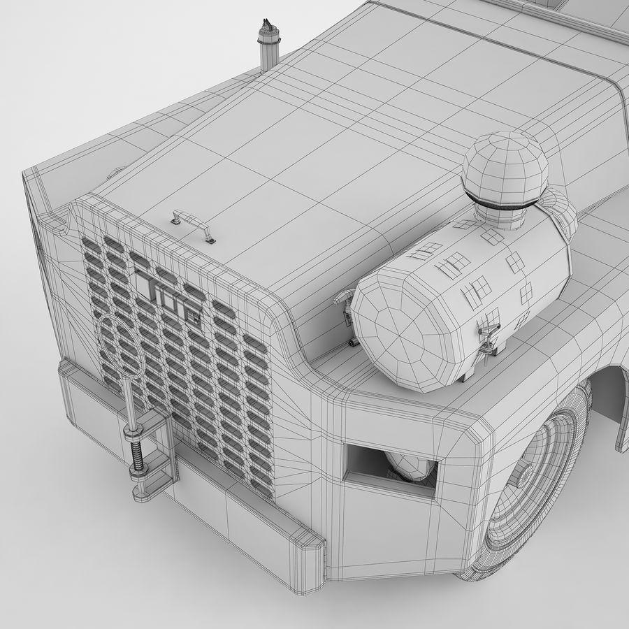 航空機牽引トラクター04 royalty-free 3d model - Preview no. 20