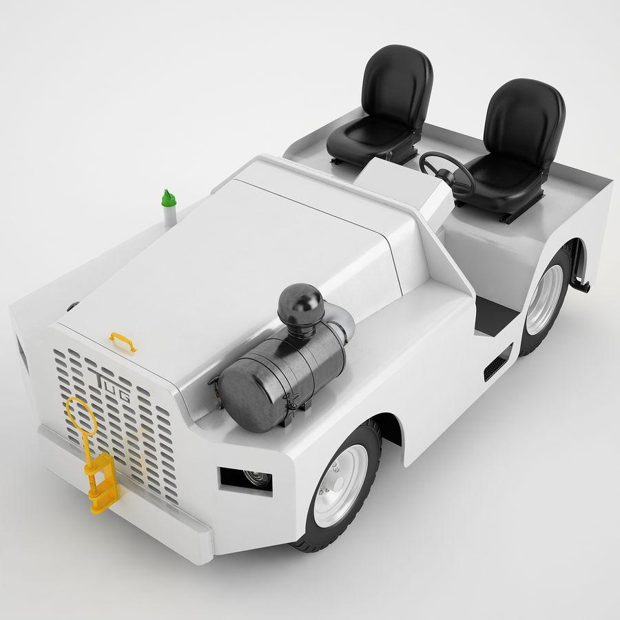 航空機牽引トラクター04 royalty-free 3d model - Preview no. 9