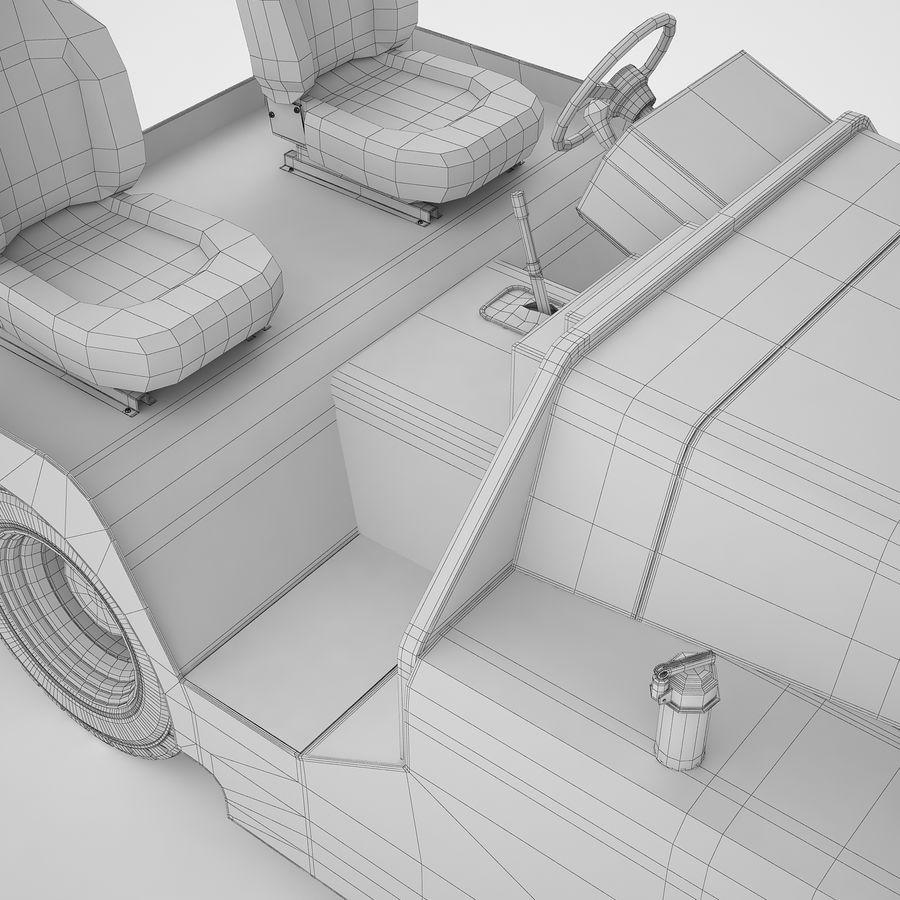 航空機牽引トラクター04 royalty-free 3d model - Preview no. 26