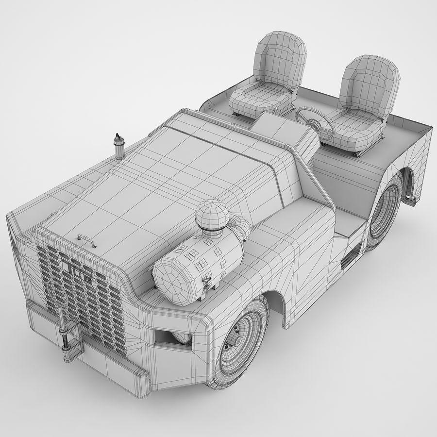 航空機牽引トラクター04 royalty-free 3d model - Preview no. 10