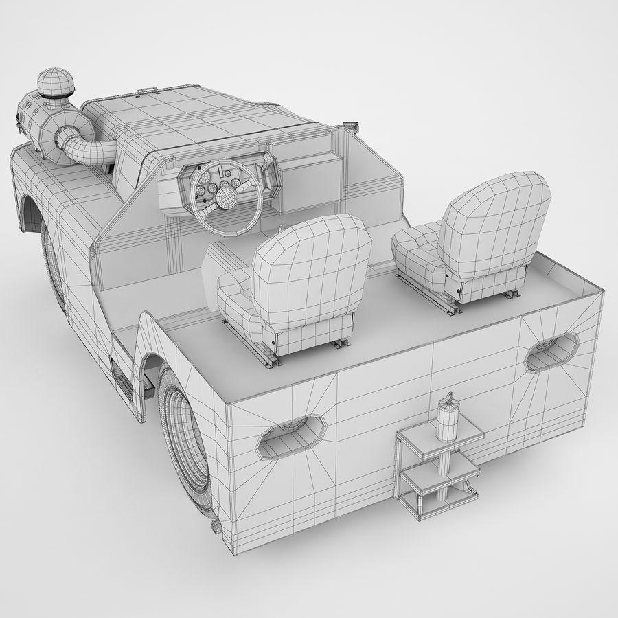 航空機牽引トラクター04 royalty-free 3d model - Preview no. 12