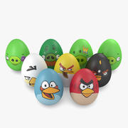 Easter Eggs - Angry Birds 3d model