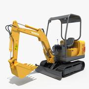 Small Excavator YG15-8 3d model
