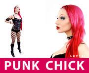 Hot Punk Chick 3d model