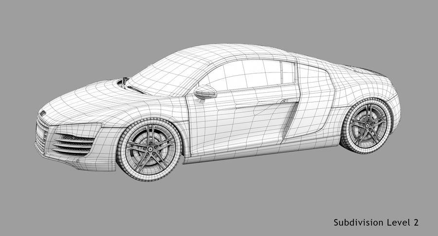 Audi R8 royalty-free 3d model - Preview no. 45