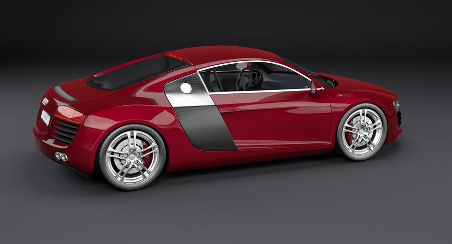 Audi R8 royalty-free 3d model - Preview no. 5