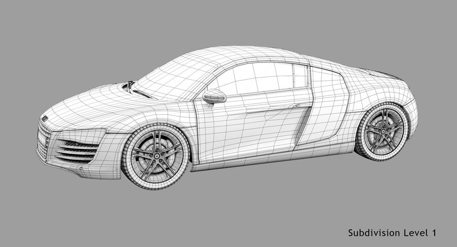 Audi R8 royalty-free 3d model - Preview no. 44