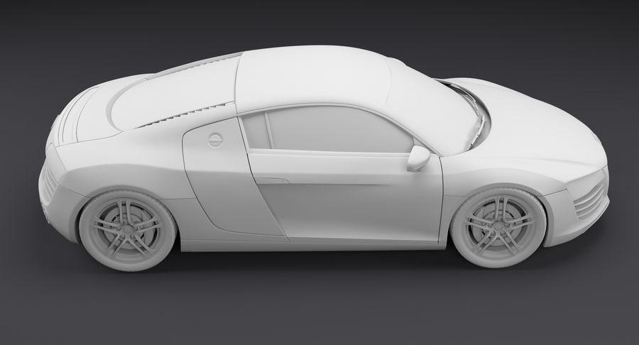 Audi R8 royalty-free 3d model - Preview no. 23