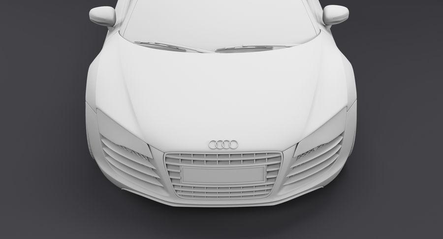 Audi R8 royalty-free 3d model - Preview no. 29