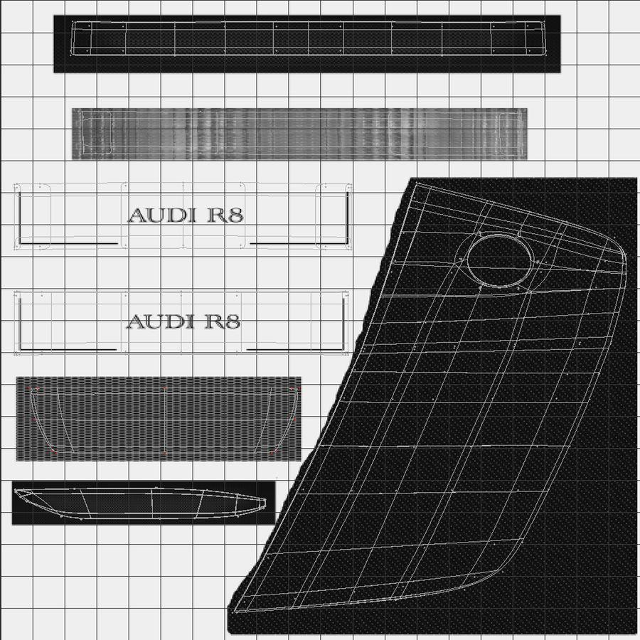 Audi R8 royalty-free 3d model - Preview no. 49