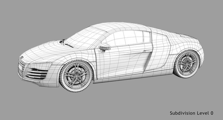 Audi R8 royalty-free 3d model - Preview no. 43
