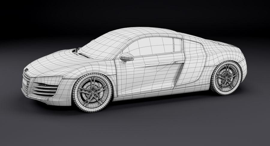Audi R8 royalty-free 3d model - Preview no. 30