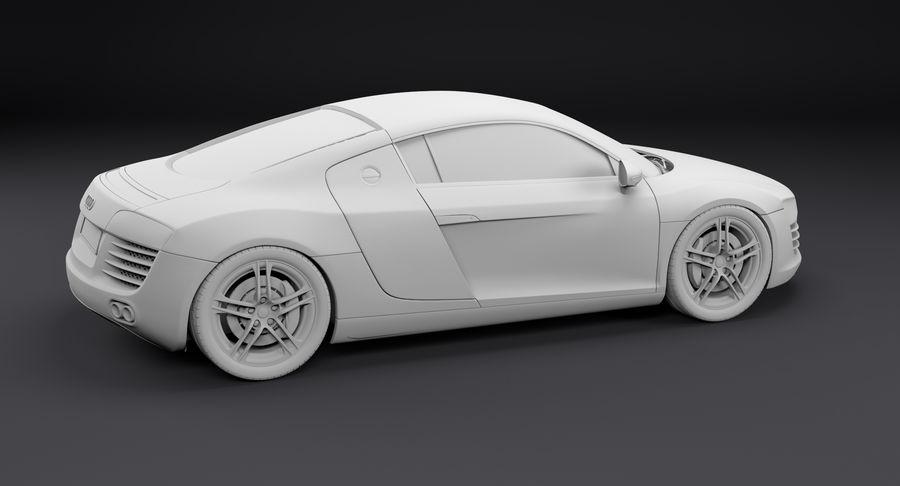 Audi R8 royalty-free 3d model - Preview no. 18