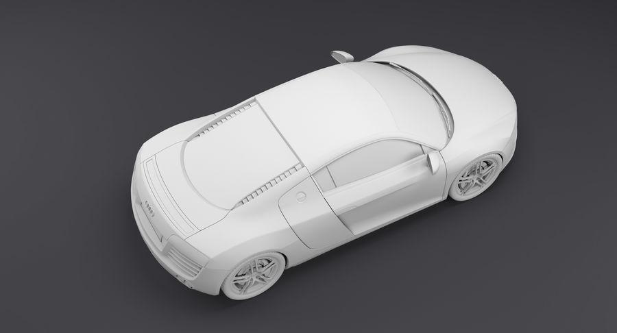 Audi R8 royalty-free 3d model - Preview no. 27