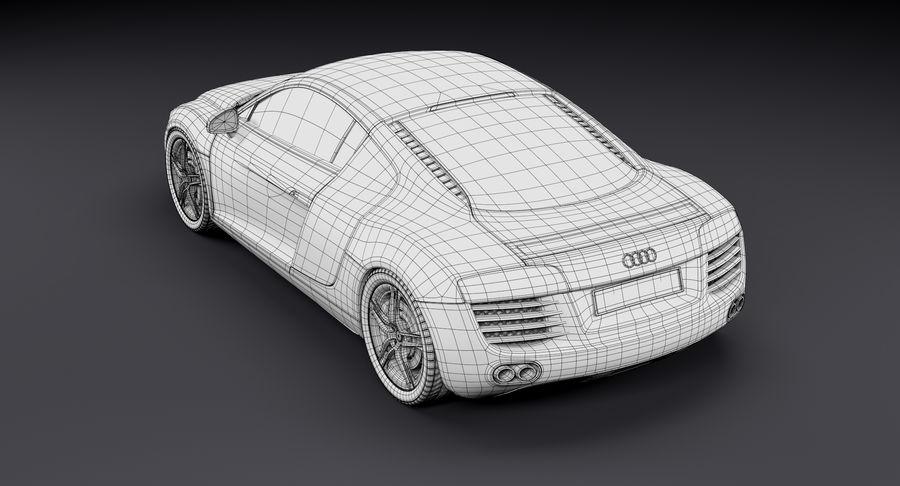 Audi R8 royalty-free 3d model - Preview no. 39