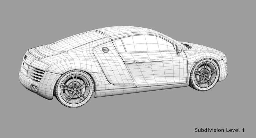 Audi R8 royalty-free 3d model - Preview no. 47